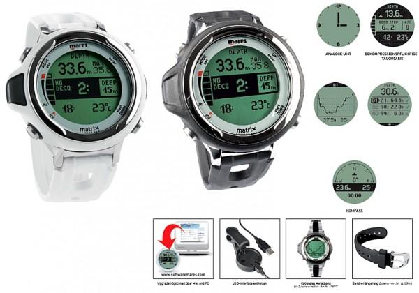 Mares Matrix Tauchcomputer Kompass Armband Tauchcomputer