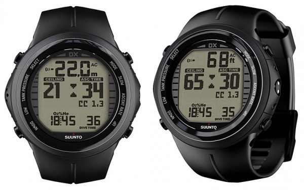 Suunto DX Black Tauchcomputer Elastomer mit USB 3D Kompass
