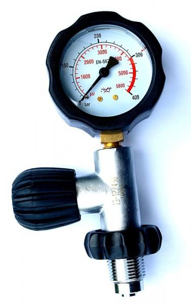 Polaris Prüfmanometer Prüfgerät 0-400 Bar DIN Anschluss