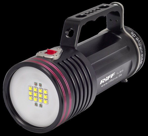 RIFF TL BIG starke helle Tauchlampe Taucher Lampe 7000 Lumen