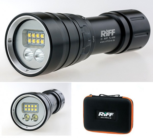 Riff TL 4000 Video Taucher Lampe mit Spot Licht Tauchlampe