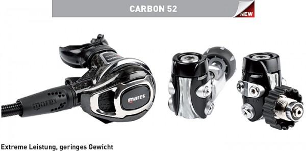 Mares Carbon 52 Atemregler Lungenautomat Kaltwasser Regler