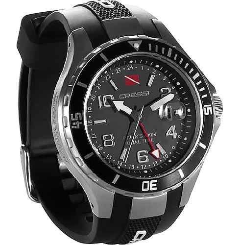 Cressi Taucher Uhr Treveller Zwei Zeitzonen Uhr Armband Tauchuhr