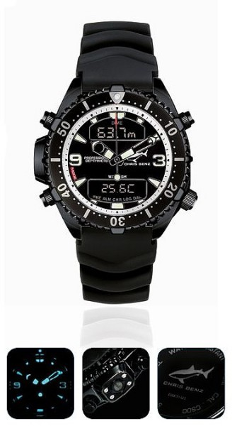 Chris Benz Depthmeter DIGITAL Limited Edition 200m Tauchuhr