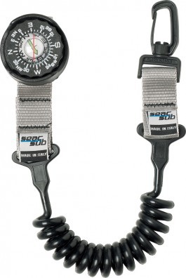 Seac Sub Kompass mit Spiralkabel Taucher Kompass