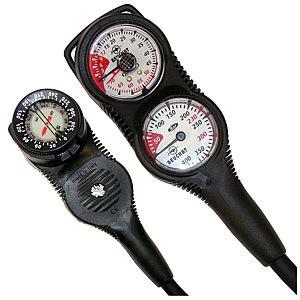 Beuchat 3 er Taucher Konsole analog Finimeter Tiefenmesser Kompass Tauchkonsole