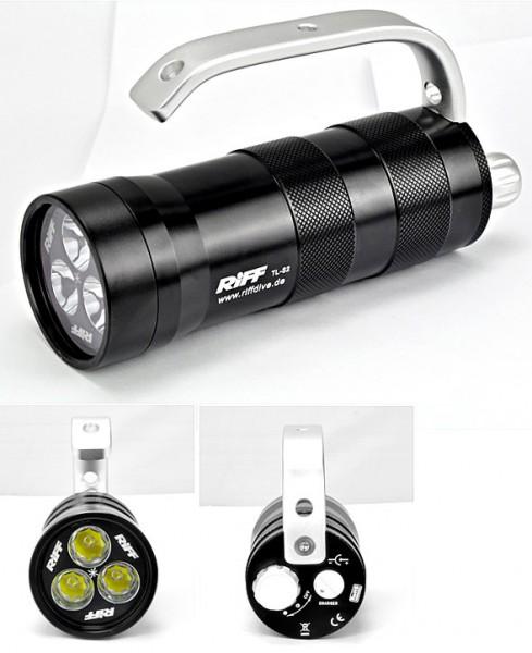 Riff TL S2 Tauchlampe Taucher Lampe helle Tauchlampe mit Bügel Trage Hand Griff