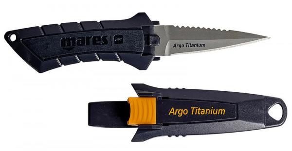 Mares Argo Taucher Messer kleines Tauchmesser Titan Titanium Klinge