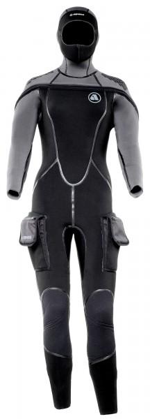 Apeks ThermiQ 8/7 Neoprenanzug Neopren Damen Tauchanzug Kopfhaube Taucher Anzug tauchen Kaltwasser