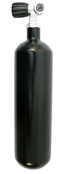 Beuchat 2 Liter Tauchflasche Taucher Flache Pressluftflasche Stahlflasche 230 Bar Monoventil