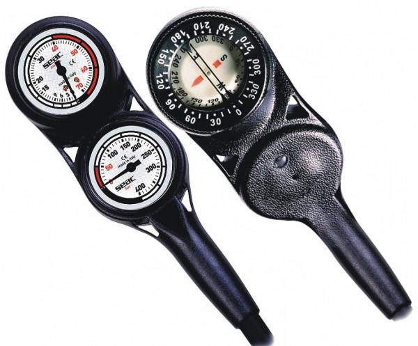 Seac Sub Console 3 Finimeter Tiefenmesser Kompass 3er Konsole