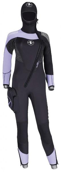Aqua Lung Dynaflex Range FS FZ 7 mm Tauchanzug Damen Frauen Taucher Anzug angesetzter Kopfhaube