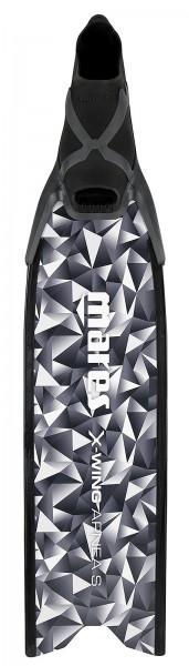 Mares X-Wing Apnea S Apnoe Freitaucher Frei Taucher Flossen tauchen Glasfaser Blatt schwarz weiß