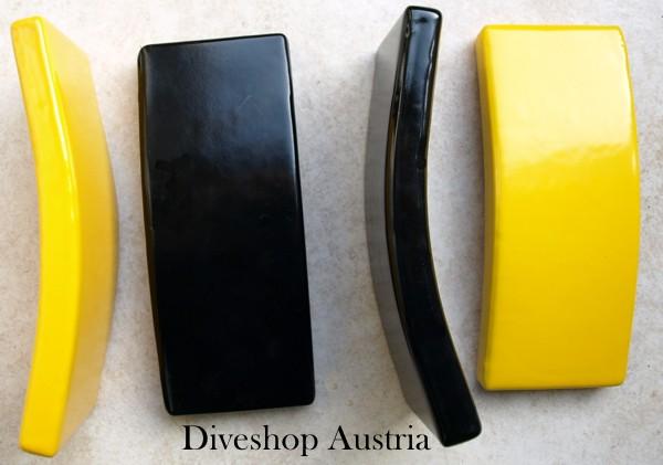 Hollandse Taucher Blei tauchen 2kg 2 kg PVC Ummantelung schwarz Jacket Bleiblock Bleigewicht gebogen