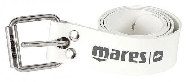 Mares Elastic Belt Marseillaise S.S. Apnoe Bleigurt Freitaucher Blei Gurt elastisch weiß Gummi