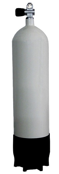Faber 10 Liter 300 BAR Tauchflasche mit Ventil Standfuss Pressluftflasche Stahlflasche