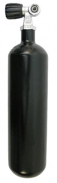 Beuchat 2 Liter Tauchflasche Taucher Flasche kleine Pressluftflasche Stahlflasche schwarz tauchen