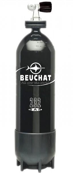 Beuchat Tauchflasche 10 Liter Taucher Flasche Pressluftflasche Stahlflasche 10 lt schwarz