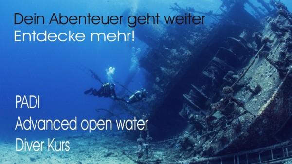 Padi Tauchschule Tauchkurs Advanced Open Water Diver Fortgeschrittener Tauchkurs Taucher Kurs Schule