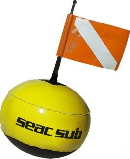 Seac Sub Signal Boje Oberflächen Markierungsboje mit Fahne Flagge gelb Taucher tauchen