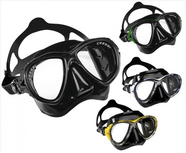 Cressi Eyes Evolution Tauchmaske Tauchermaske Apnoe Maske schwarz tauchen Taucher tauchen