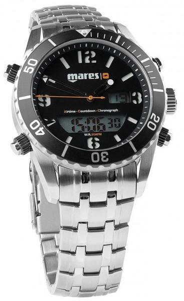 Mares Mission Chrono SF Digital Taucher Uhr Armbanduhr Arm Band Uhr Edelstahl