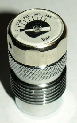 Mini Prüf Manometer 400 Bar Prüfmanometer Taucher schnell Flaschen Druckmesser