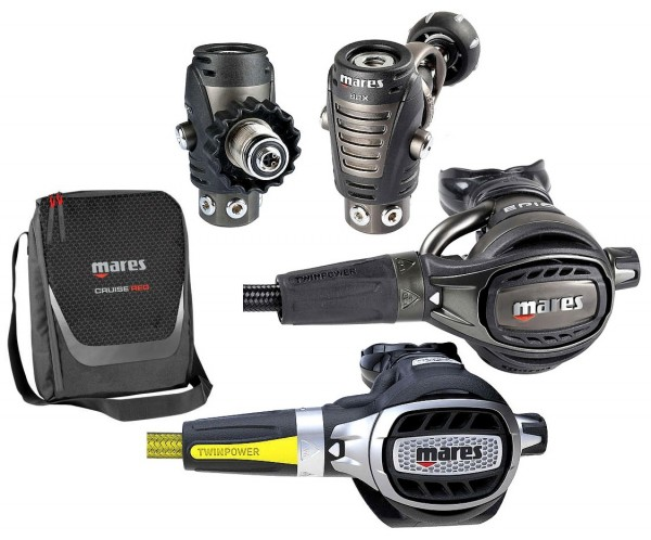 Mares EPIC ADJ 82X Atemregler Set Taucher Regler + Oktopus Ultra ADJ DIN INT Taucher Regler
