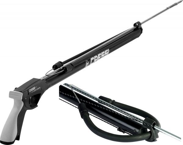 Cressi Apache Harpune rubber gun Gummizug schwarz Unterwasser Schießgerät mit Pfeil Lanze