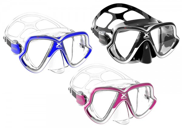 Mares X-Vision MID Taucherbrille Tauchermaske optional Dioptrien Glas kleinere Gesichter Taucher tau