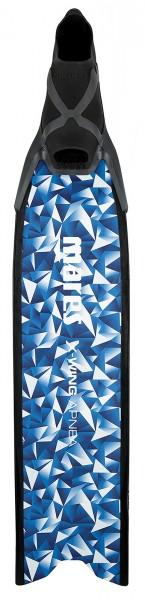Mares X-Wing Apnea Apnoe Freitaucher Frei Taucher Flossen tauchen Glasfaser Blatt blau weiß