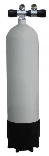 Polaris ECS Tauchflasche 15 Liter Stahlflasche 232 Bar Doppelventil Taucher Flasche tauchen