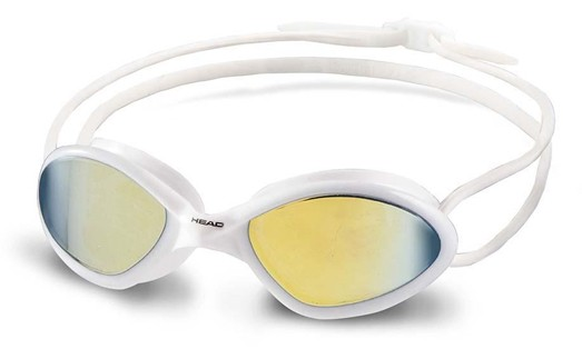 Head Tiger Race Mirrored LiquidSkin weiß Profi Schwimmbrille Maske schwimmen Spiegelglas