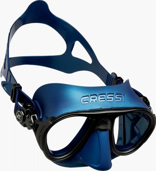 Cressi Calibro Apnoe Freitaucher Maske Tauchmaske blau schwarz oder grün