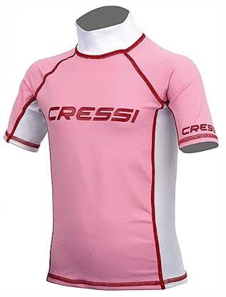 Cressi Rash Guard Kinder kurz ärmlig pink Sonnenschutz Sonnen UV Schutz Leibchen T Shirt