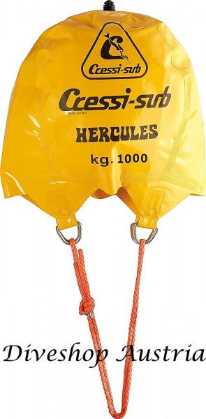 Cressi Herkules 1000 Liter Kg Hebe Berge Ballon Taucher Hebeballon Bergeballon robuster Bergesack