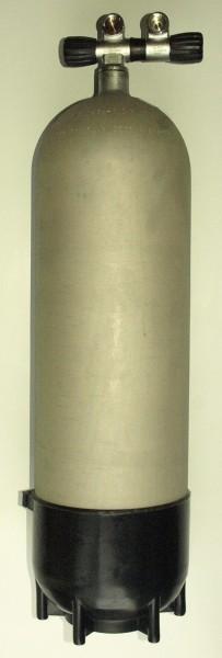 Polaris Faber 18 Liter Tauchflasche 232 Bar Taucher Pressluft Stahl Flasche Doppel Ventil Standfuß