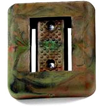 Polaris Taucher Blei 1kg Camouflash Bleiblock Gummiert PVC Ummantelung Taucherblei tauchen Tarnfarbe