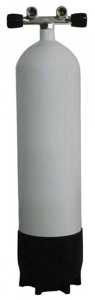 Polaris ECS Tauchflasche 15 Liter Stahlflasche 232 Bar Doppelventil Twinventil Taucher Flasche tauch