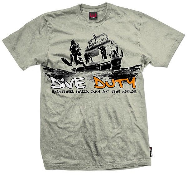 Taucher T-Shirt Dive Duty Shirt 100% Baumwolle Uwahu Leibchen