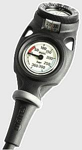 Mares Mission 2C 2er zweier Konsole Kompass Finimeter Manometer Taucher Flaschendruck Messgerät