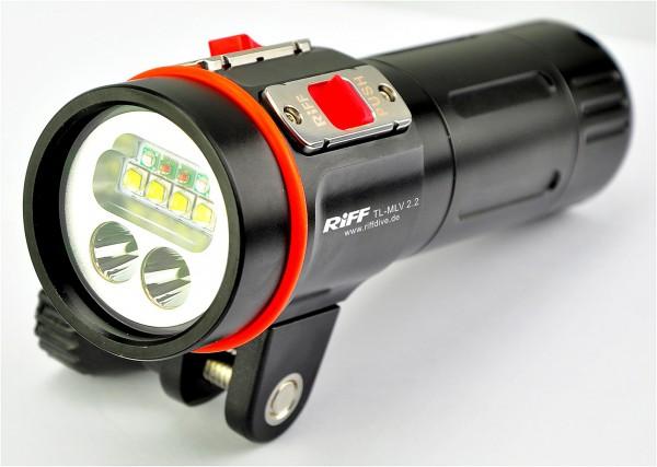 Riff MLV 2.2. Video Lampe Videolicht Taucher Film Lampe tauchen filmen Unterwasser