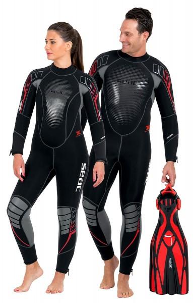 Seac Sub Komoda Flex 7 mm Neopren hoch elastischer Damen Frauen Tauchanzug Taucher Anzug