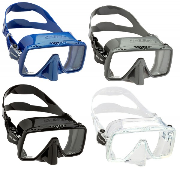 Cressi SF1 Taucher Maske Tauchmaske Rahmenlos tauchen Silikon grosses Sichtfeld