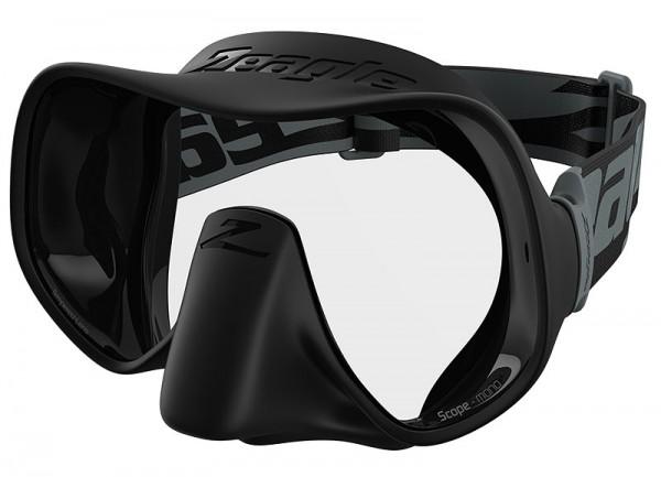 Zeagle Scope Mono Tauchmaske Einglas Taucher Maske Brille schwarz tauchen