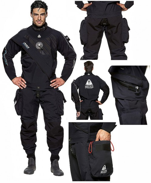 Waterproof D9X Breathable Trockentauchanzug Quad Laminat