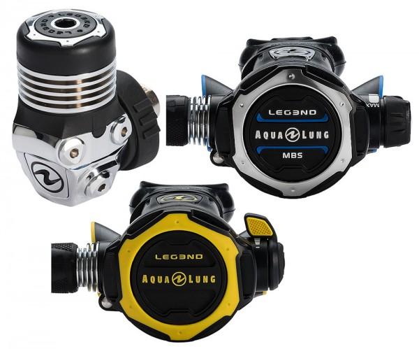 Aqua Lung Aqualung Legend MBS Set + Oktopus Legend DIN Kaltwasser Atemregler Taucher Regler