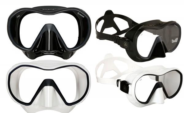 Apeks VX1 Tauchmaske Taucher Maske Silikon großes Sichtfeld schwarz weiß tauchen Brille Tauchbrille