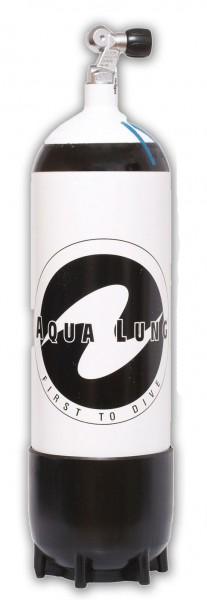 Aqualung 10 Liter Tauchflasche Taucher Flasche Pressluftflasche Monoventil Standfuss tauchen