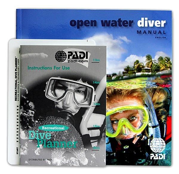 Padi Open water diver Buch + RDP metrisch + RDP Beschreibung Kid Deutsch